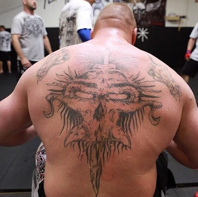 work with UFC and WWE. Brock Lesnar has quite a collection of tattoos,