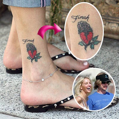Heather Locklear has been spotted with a coupe of tattoos, including a heart