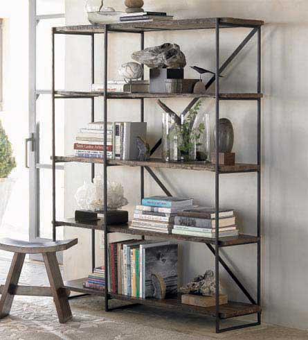 free standing pipe bookshelf 2