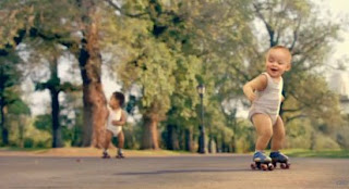 Babies on Skates Ad Evian Natural Spring Water Commercial