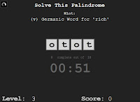 Palindromes walkthrough, hacks and cheats