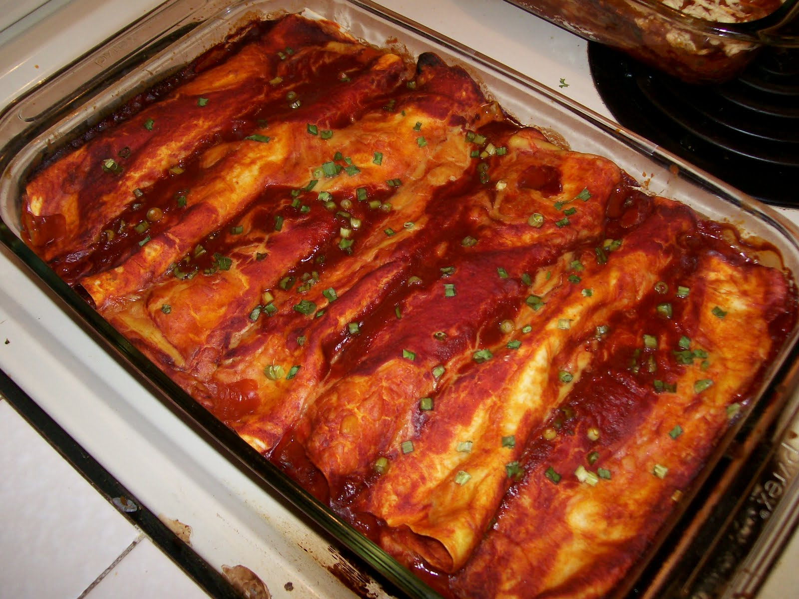 Vegan Luvies: VegWeb's Cheesy Bean and Cheese Enchiladas