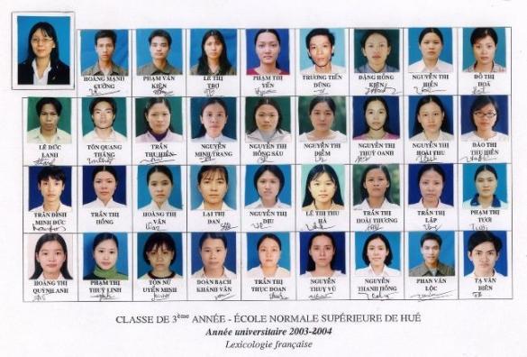 ENS de Hue 2003-2004