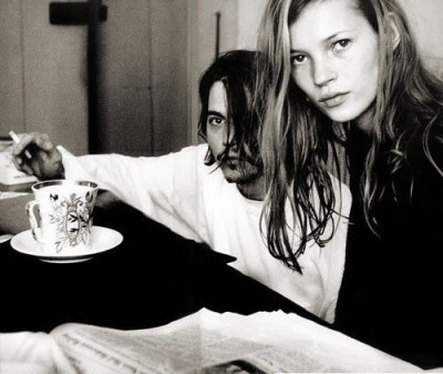 annie leibovitz johnny depp and kate moss