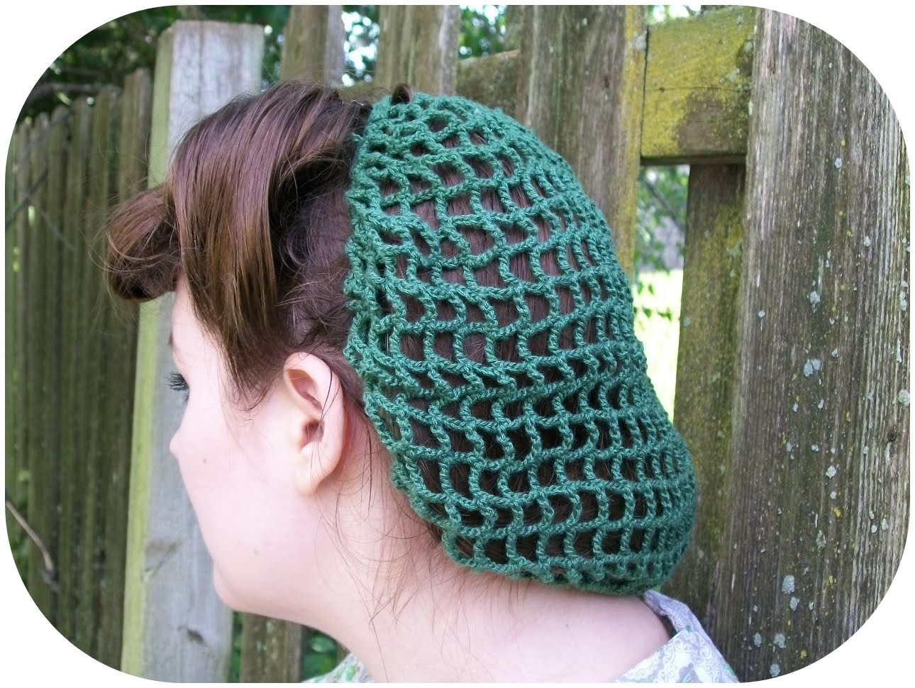 Crochet Hair Net Free Pattern : HAIR SNOOD PATTERN Design Patterns