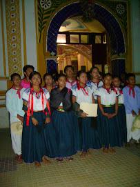 La misa del tercer año del Grupo Cultural Ajalpan