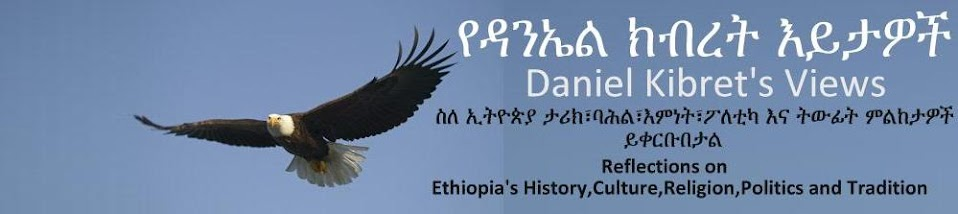 የዳንኤል እይታዎች    Daniel Kibret's views