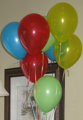 Festive and colorful balloons