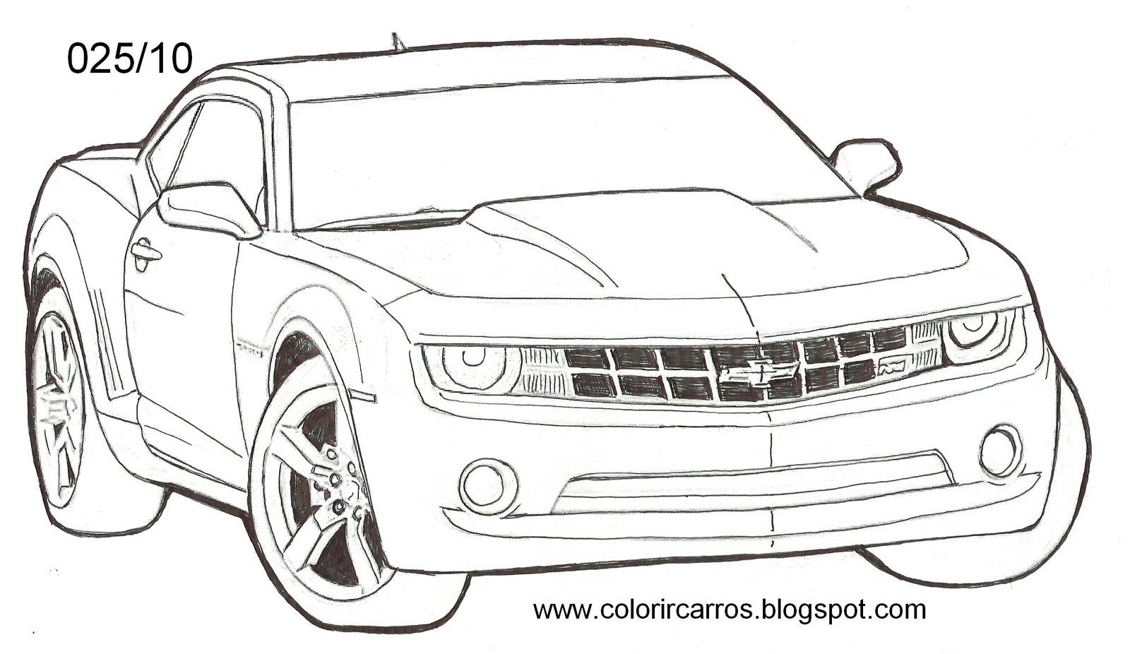 imagens para colorir de carro com paredao