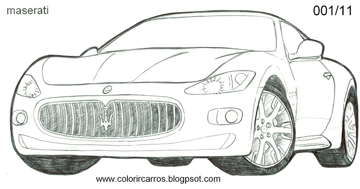 Maserati gran turismo drawing sketch coloring page for Maserati coloring pages