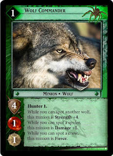 Lord of the Rings Card Game Wolf Commander