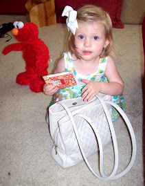 Sarah, Elmo and Mimi's purse