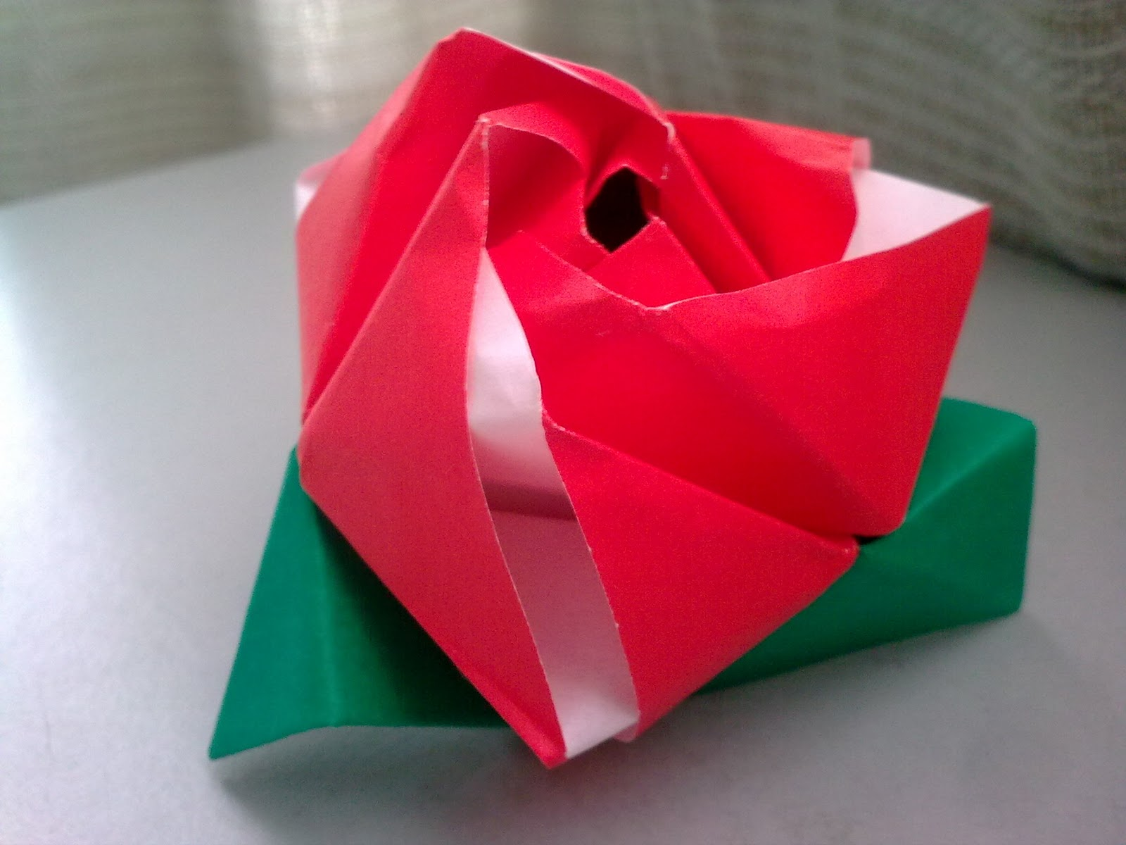 A sojourner paper folding craft origami flower cube mightylinksfo