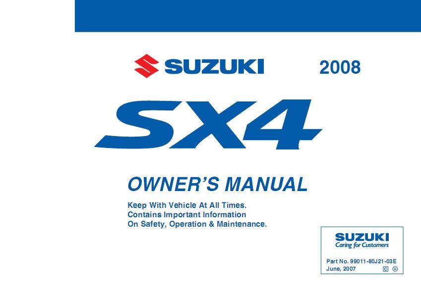 zonamobilindo suzuki sx4 owners manual 2010 suzuki sx4 service manual pdf Suzuki SX4 Crossover