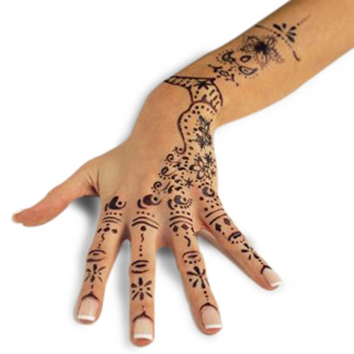"WARNING: Stay away from ""black henna"" or ""blue henna"" tattoos."
