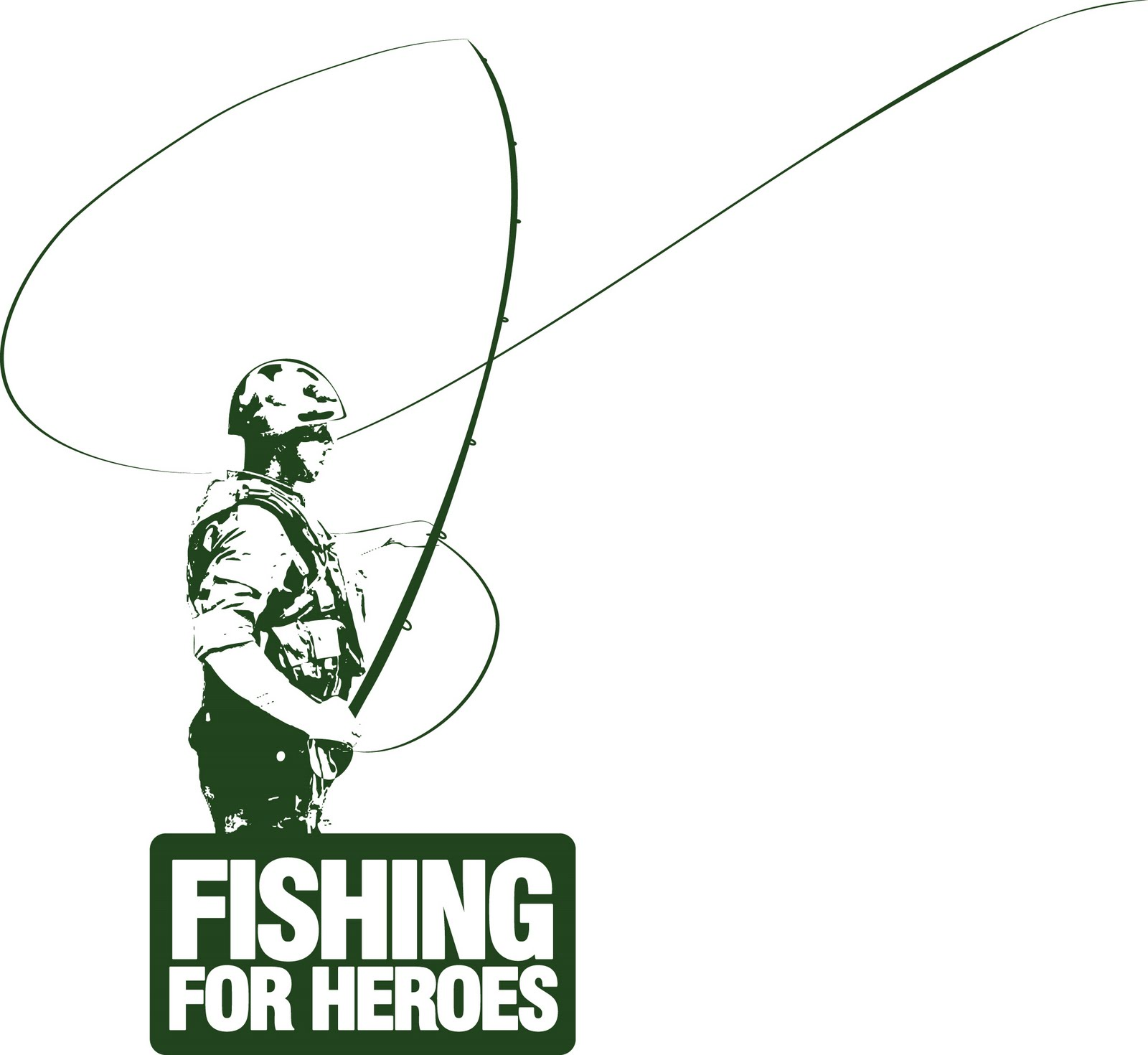 Charity t shirts hoodies fishing for heroes for Polo shirt with fish logo