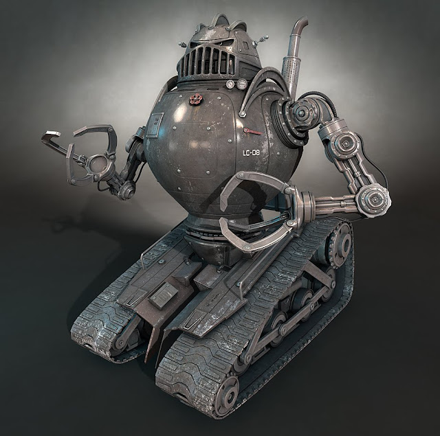 matilDa 30 Awesome 3D Robots Illustrations
