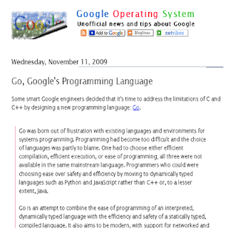 Googles Programming Language