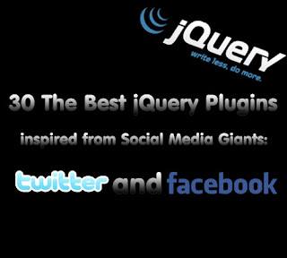 The Best jQuery plugins inspired from Twitter and Facebook