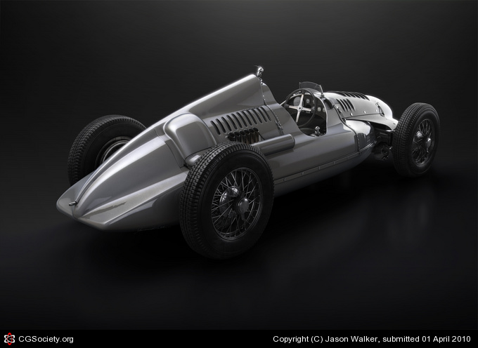 939 Auto Union type D Side view