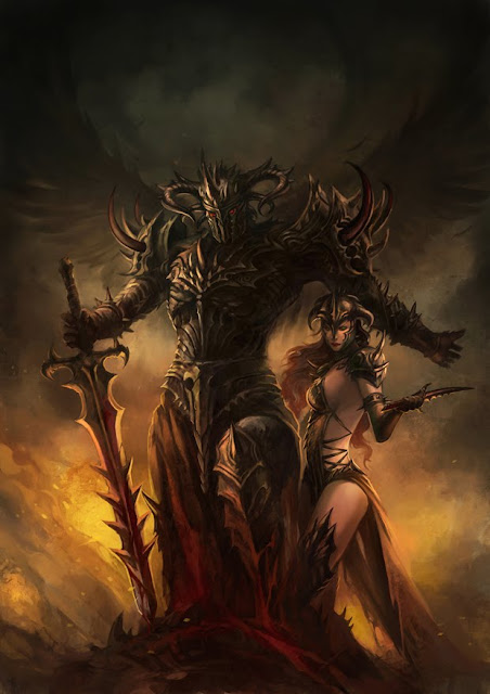 black knight and companion