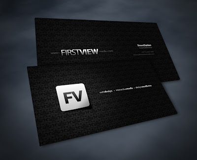 awesome Black White Business Cards