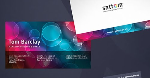 Sattom Media Business Cards