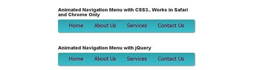 Animated Navigation Menu with CSS3