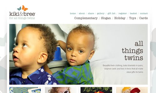 Kiki and Bree kid website design