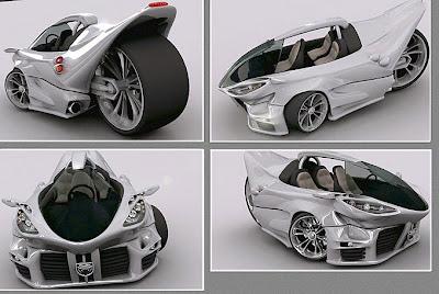 Vehicle Conceptuale 3d car design