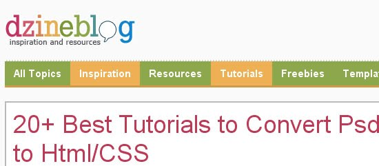 Best Tutorials to Convert Psd to Html/CSS
