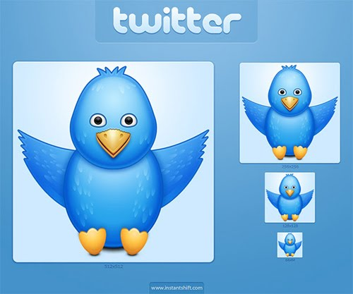 Freebie: Cute Twitter Bird Icon Set | instantshift