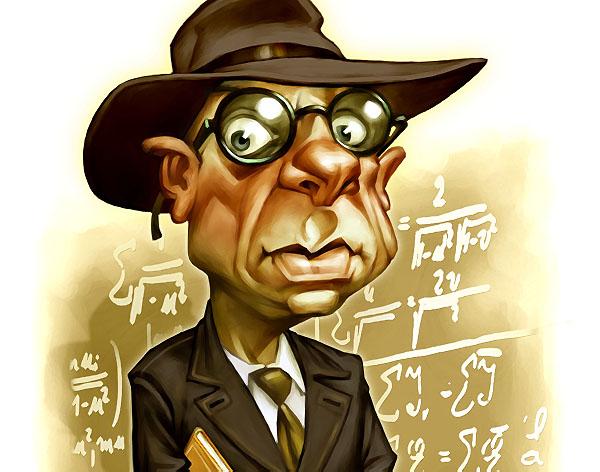 Kurt GODEL caricature
