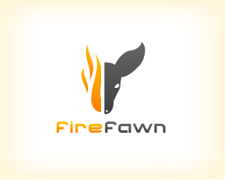 FireFawn logo design