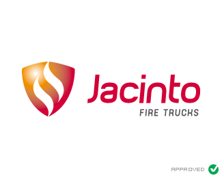 Jacinto Fire Trucks Logo Design