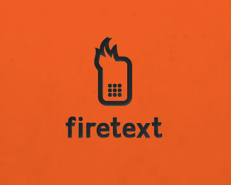 Firetext_v2 Logo Design