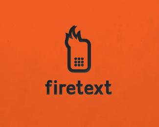 Firetext_v2 Logo Design