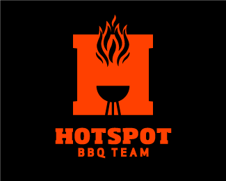HOTSPOT BBQ TEAM Logo Design