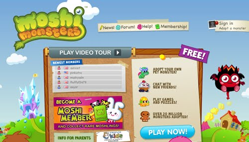 Moshi Monster Flash Website