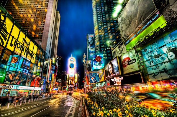 Times Square Looking Uptown