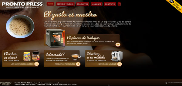 Pronto Press Web Design