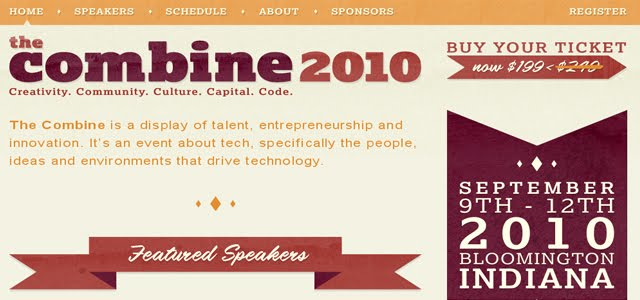 The Combine 2010 Web Design