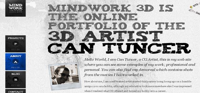 mindwork3d web design