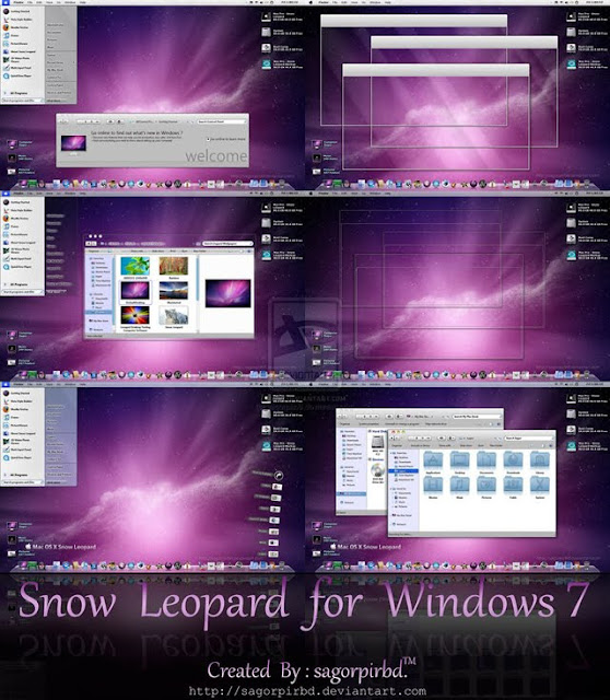 Snow Leopard for Windows 7 theme