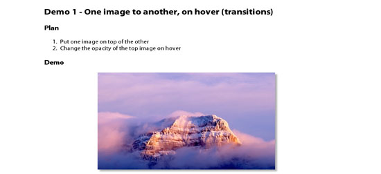 Using CSS3 Transitions