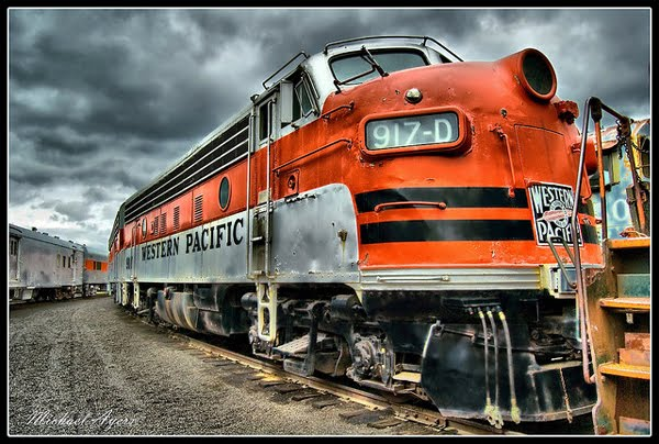 Western Pacific Train HDR by Mike Ayers