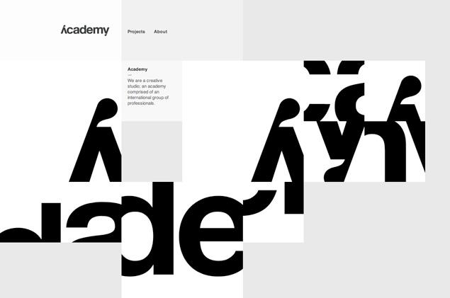 Academy Minimal Web Design