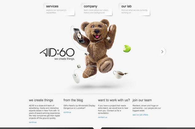 AD 60 Minimal Web Design