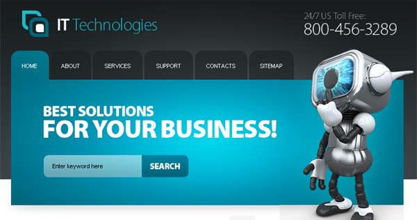 Start Your Project with Top-Notch Free IT Website Template
