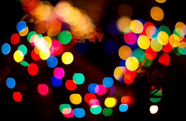 Are we human, or are we dancing bokeh balls of light